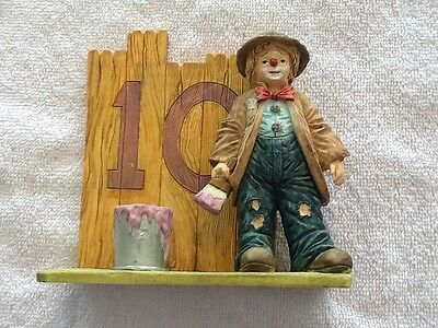 Emmett Kelly Jr. Figurine Little Emmett 10th Birthday With Box