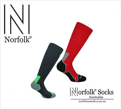Norfolk Mens Running, Biking Compression Sock with Bacteriostatic Fibre - Bekele