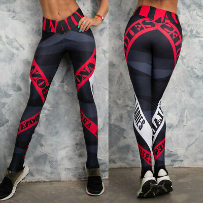 Womens Yoga Fitness Leggings Workout Stretch Sports Pants Trousers Plus Size