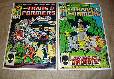 The Transformers #7-8 (1985) Marvel Comic Lot Of 2 FN To VG Condition