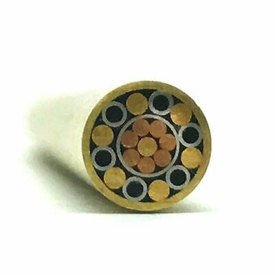 "Mosaic Pin for Knifemaking 1/4"" x 4"" Brass Tube + Copper/Stainless- 1 pin- MP12"