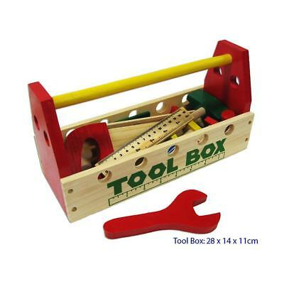 NEW Tool Set with Wooden Tools Learning  Educational Toy Kids Childrens Toys