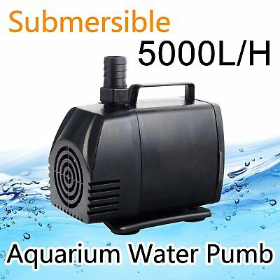 5000L/H Submersible WATER Pump Aquarium Pond Pool Fish Tank Fountain
