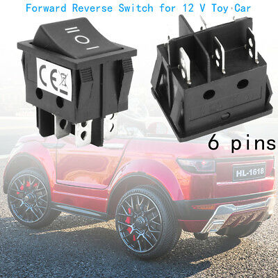 6 Pin 3 Positions T105/55 Power Wheels Forward Reverse Switch for 12V Toy Car