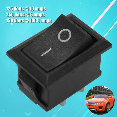 1Pc 2 Pin Black Plastic Rocker Switch 10 A 250 V T125/55 for Canal MR-2 Series