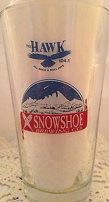 Snowshoe Brewing Co Sonora Blues & Brews  Pint Beer Glass The Hawk