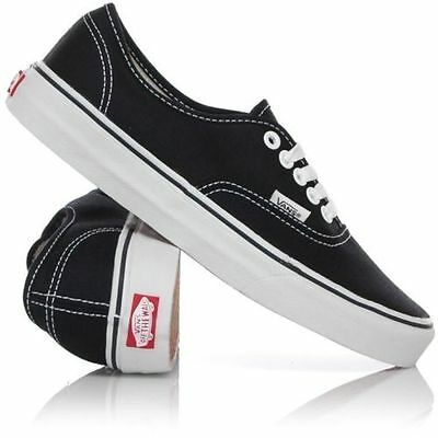 LAST ONE Vans Shoes Authentic Black White USA SIZE Classic FREE POST