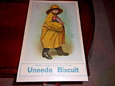 1904 UNEEDA BISCUIT Original Print Advertisement-Christian Herald