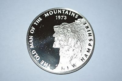 1973 Franklin Mint Sterling Silver 50 State Bicentennial Medal -New Hampshire