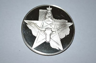 1973 Franklin Mint Sterling Silver 50 State Bicentennial Medal -Texas