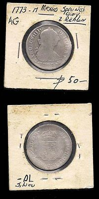 Mexico - 2 Reales 1773M - Silver Coin - C.v. $50