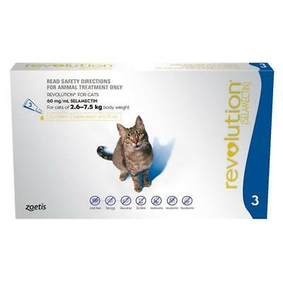 NEW Revolution For Cats 2.6-7.5kg Blue Revolution Pet Cat