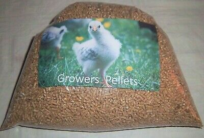 Growers  Pellets Chicken Duck Goose Turkey Feed 1 Kg , 1 1/2 Kg ,2 Kg.