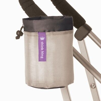 Soft Buggy Cup For Stroller Drawstring Closure Unisex Black And Silver