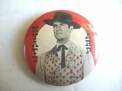 1960s TV COWBOY TIN PINBACK WYATT EARP LINDSAY'S LEICHHARDT BADGE AUSSIE ONLY NM