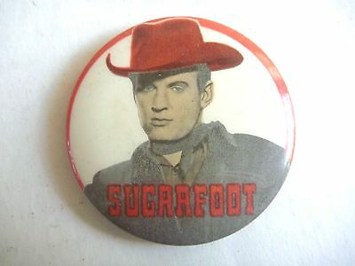 1960s TV COWBOY TIN PINBACK SUGARFOOT LINDSAY'S LEICHHARDT SYDNEY BADGE PIN NM!