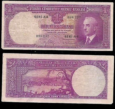 Turkey - One Lira 1942 - P# 135
