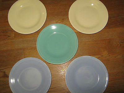 5 Knowles Pastel Small Dessert Bread/butter Plates  Multi Colors
