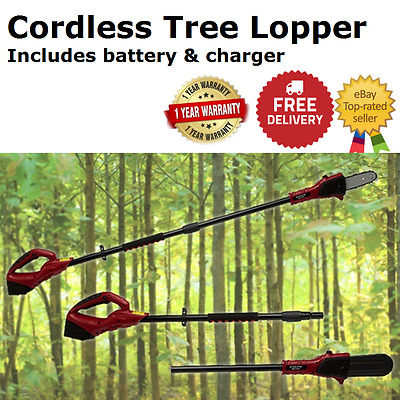 Cordless Tree Lopper Rechargeable Hedge Trimmer Extendable 1.7m Cutting Saw NEW