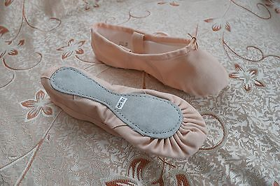 Canvas Ballet Shoes Full Leather Sole Aust stock