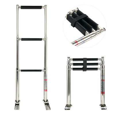 3 Step Stainless Steel Telescoping Boat Ladder Swim Step AU Fast Ship 07331A1