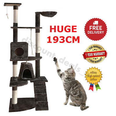 Large 193cm Cat Kitten Condo Grooming Scratching Tree Post Gym Furniture Tower