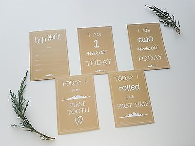 Neutral Baby Milestone and Moments Cards. Announcements - BRAND NEW 27 cards