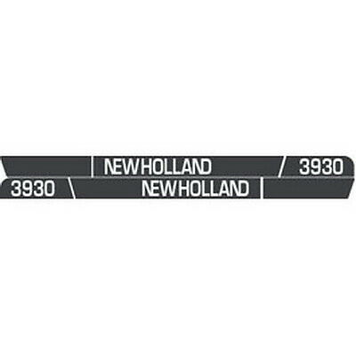 New 3930 Holland Tractor Hood Decal Kit 3930 High Quality Vinyl Hood Decals