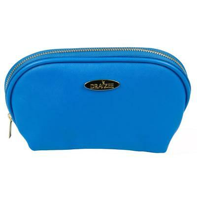 Deep Blue Draizee Fashion PU Leather Cosmetic and Travel Accessory Bag