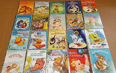 *Mixed Lot of 50 hardcover Little Golden Books(Sesame Street, Disney, vintage)