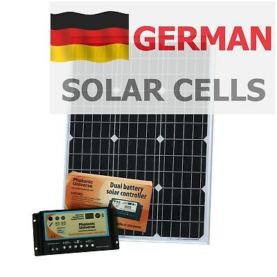 60W 12V dual battery solar panel kit for camper / boat with controller (60 watt)