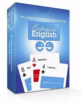 Expressive English English Conversation Playing Cards.