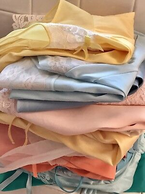 Vintage 18 Piece Lot Lingerie Nightgowns Robes Slip Beautiful