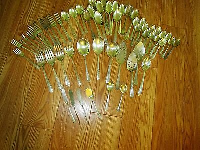 50+ Craft  Pieces Silverplate Flatware Nice Patterns