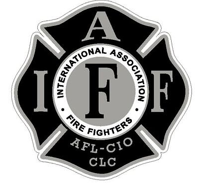 "4"" IAFF Decal Black and Silver Exterior Mount READ AUCTION"