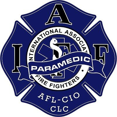 "4"" IAFF Decal Paramedic Exterior Mount PLEASE READ AUCTION"