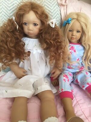 2 Pretty Annette Himstedt Dolls Esme Jule Boxed Etc Puppen Kinder