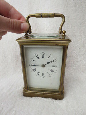 Large Antique Brass R C French 8 Day Carriage Clock For Spares Repair