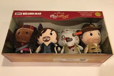 Rare Newly Released Hallmark Itty Bittys AMC The Walking Dead Collector Set