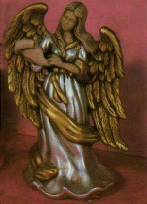 Ceramic Bisque Victorian Angel with a Scroll U-Paint Ready to Paint