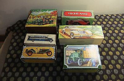 Avon Vintage Collectible Auto Bottles Mens Cologne/after Shave  Lot Of 6