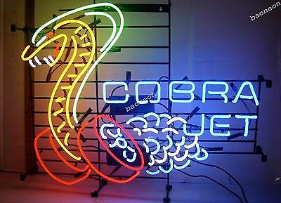"24""X22"" HUGE Cobra Jet Snake Car Dealer BEER BAR LIGHT NEON SIGN FREE SHIPPING"