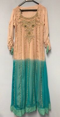 Women Dress Embroidered Beaded Abaya Gown