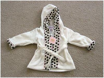 Baby Girl JUICY COUTURE Infant HOODED BATHROBE 0-9 months, NEW w/tags