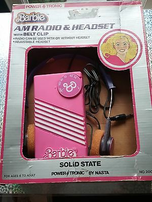 Power Tronic 1981 Barbie AM Radio (USED/RARE/VTG/HTF)