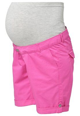 Mamalicious Maternity Pink 'andrea' Cotton Safari Shorts Size S Uk 8 Bnwt