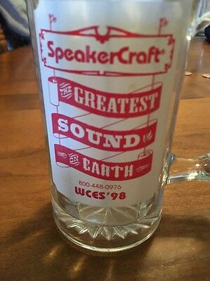 "Speakercraft Wces 98 Rare Mug ""greatest Sound On Earth"" **free Shipping**"