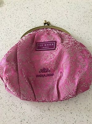 "Ladies Ted Baker Stunning  Makeup Clutch Bag / Purse New 8"" By 7.5"""