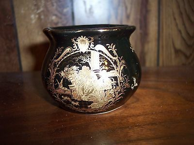"Limoges Gold Jardiniere Hand Painted 2 1/4""  Vase"