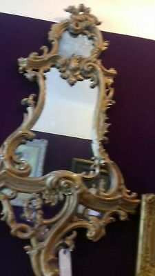 Large 19th century giltwood and gesso mirror